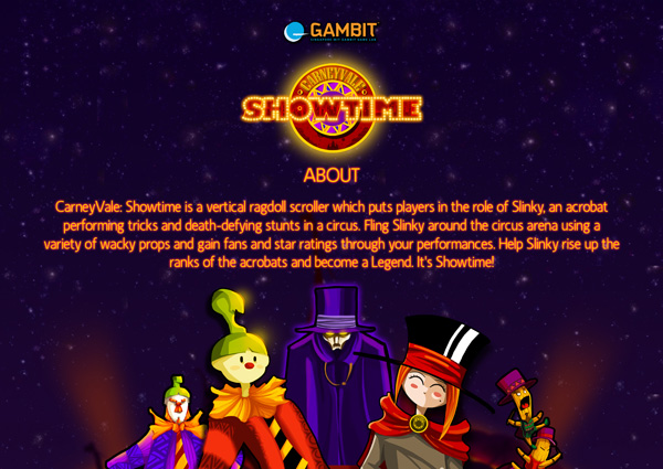 GAMBIT: Load Game: CarneyVale: Showtime (2008)
